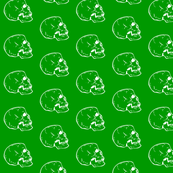 White Skulls on Green
