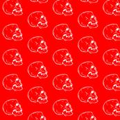 Red Skull Fabric