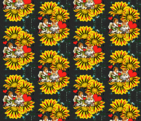 Vintage Valentine Remix fabric by whimzwhirled on Spoonflower - custom fabric