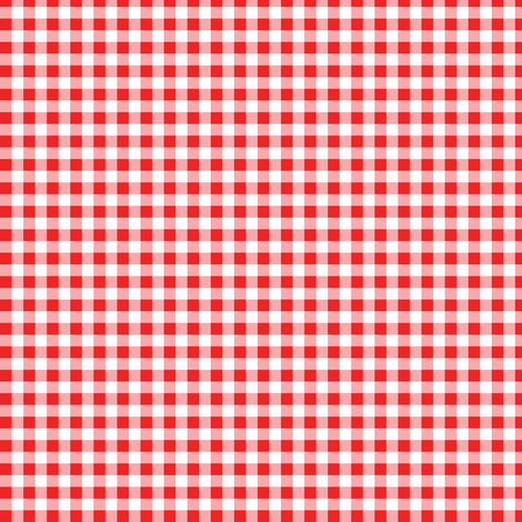red gingham fabric by heidikenney on Spoonflower - custom fabric