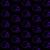 Black fabric with purple skulls