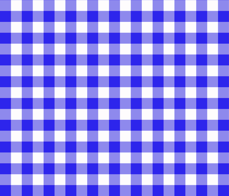 blue gingham fabric by heidikenney on Spoonflower - custom fabric