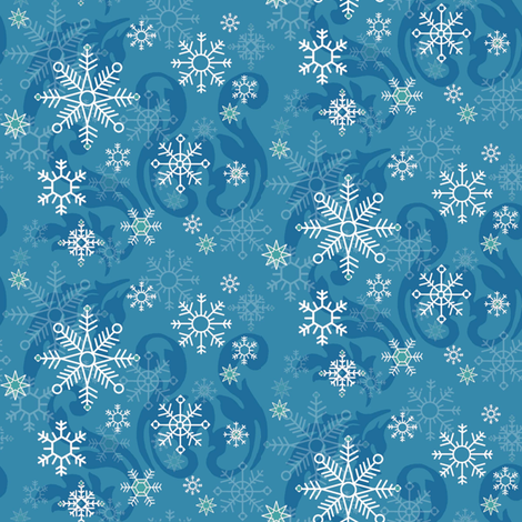 Cerulean_Snowflakes fabric by kelly_a on Spoonflower - custom fabric