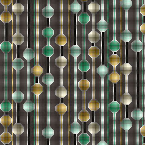 pixelated stripe vertical a fabric by glimmericks on Spoonflower - custom fabric