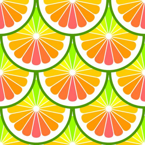 citrus scale rainbow fabric by sef on Spoonflower - custom fabric