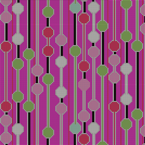 pixelated stripe vertical b fabric by glimmericks on Spoonflower - custom fabric