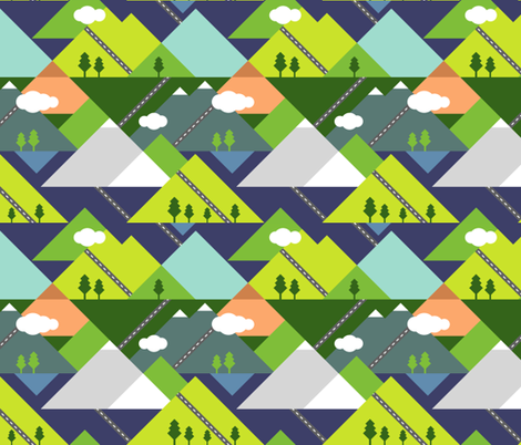 Road Trippin' fabric by mlahero on Spoonflower - custom fabric