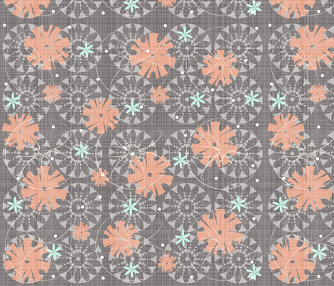 PunchFlower fabric by tarabehlers on Spoonflower - custom fabric