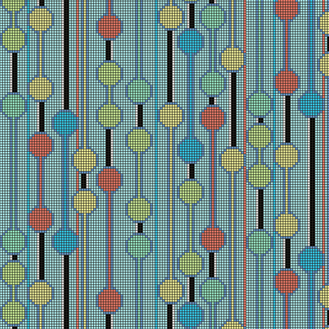 pixelated_stripe_vertical_c fabric by glimmericks on Spoonflower - custom fabric
