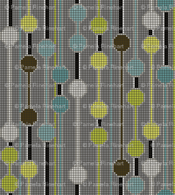 pixelated_stripe_vertical_e - Spoonflower blue