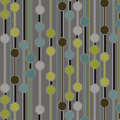 pixelated_stripe_vertical_e - Spoonflower blue fabric by glimmericks on Spoonflower - custom fabric