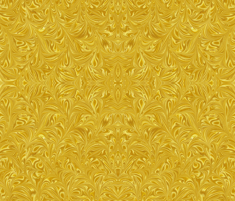 Metallic-Yellow-Swirl fabric by modernmarblingdesign on Spoonflower - custom fabric