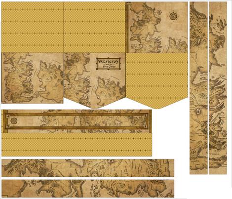 Map of Westeros Bag fabric by reisuru on Spoonflower - custom fabric