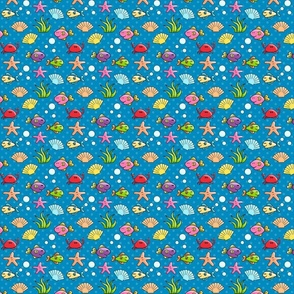 Sea Creatures on Polka Dots