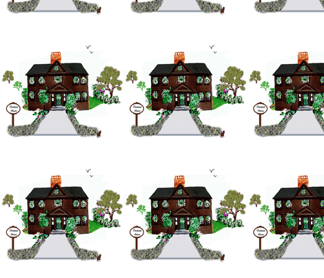 Orchard House, Concord fabric by karenharveycox on Spoonflower - custom fabric