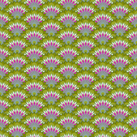 Emma's flowers small scale fabric by keweenawchris on Spoonflower - custom fabric
