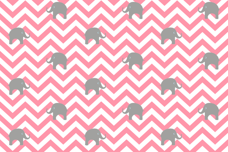 Baby Elephants in Cotton Candy fabric by willowlanetextiles on Spoonflower - custom fabric