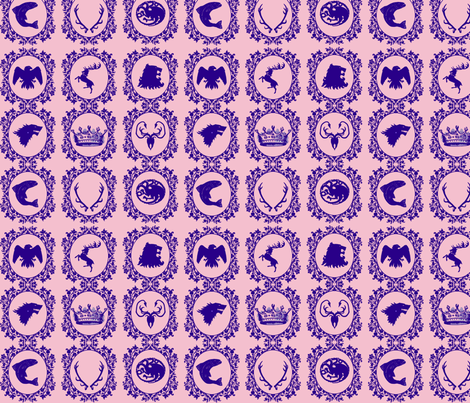 Iron_Throne_toile_purple fabric by mystical_willows on Spoonflower - custom fabric
