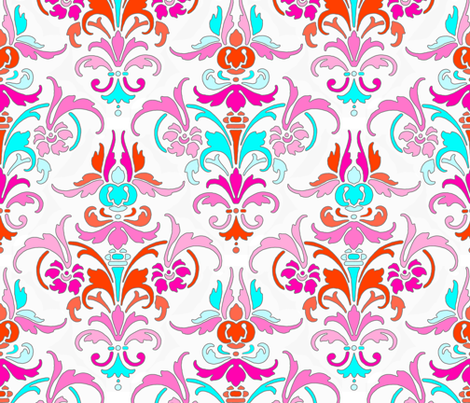 You're So Random! Damask fabric by peacoquettedesigns on Spoonflower - custom fabric