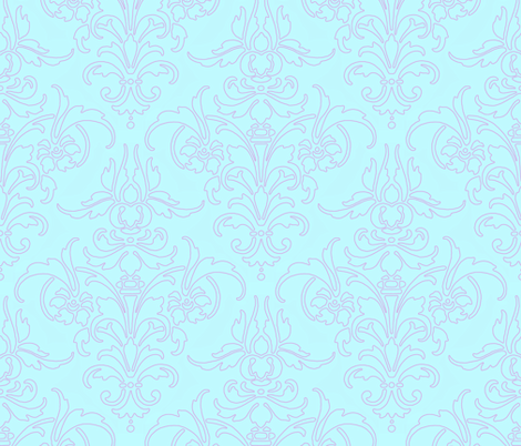 Borrow Your Outline Damask fabric by peacoquettedesigns on Spoonflower - custom fabric