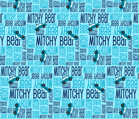 Personalised Name Fabric - Cars in Blue Teal