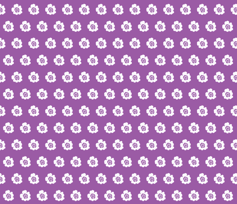 Les Fleurs Purple fabric by mammajamma on Spoonflower - custom fabric
