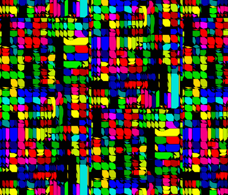 Rainbow Road fabric by glanoramay on Spoonflower - custom fabric
