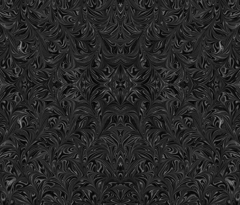 Metallic-Black-Swirl fabric by modernmarblingdesign on Spoonflower - custom fabric