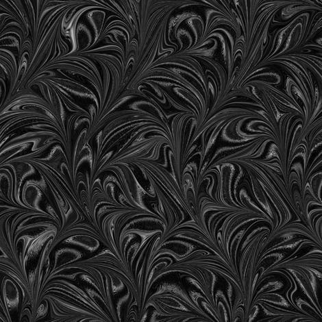 Metallic-Black-Swirl fabric by modernmarbling on Spoonflower - custom fabric