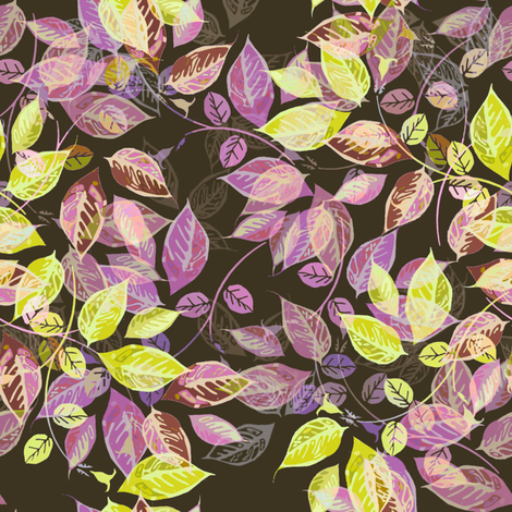 Autumn Leaves in the air fabric by joanmclemore on Spoonflower - custom fabric