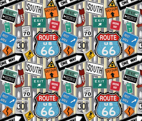 Hit The Road fabric by arttreedesigns on Spoonflower - custom fabric