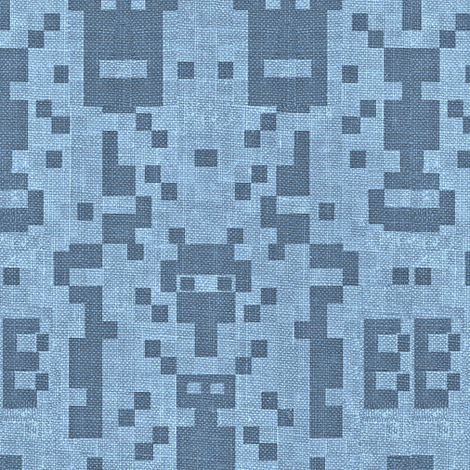 B-botz - blue denim fabric by materialsgirl on Spoonflower - custom fabric