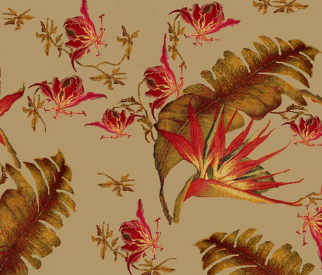 south beach flora fabric by paragonstudios on Spoonflower - custom fabric