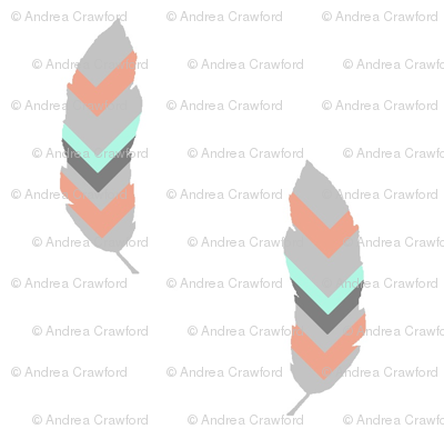 Chevron feather