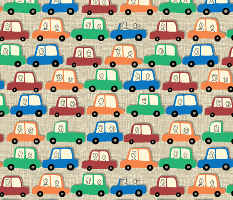 rush hour fabric by cleverviolet on Spoonflower - custom fabric