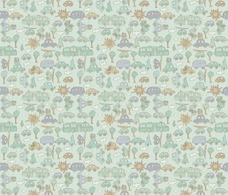 Are we there yet? fabric by plaidgoose_designs on Spoonflower - custom fabric