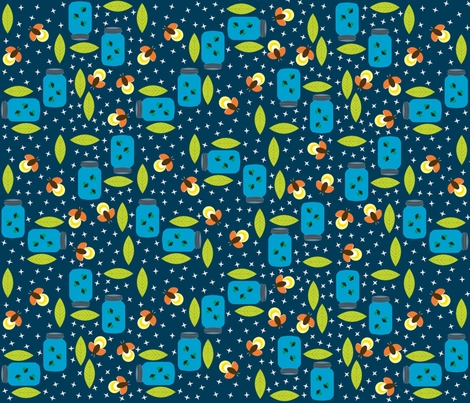 Catching Lightning Bugs fabric by oliveandruby on Spoonflower - custom fabric
