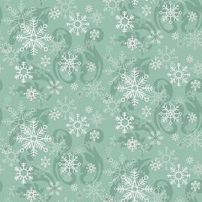 Aqua_Snowflakes