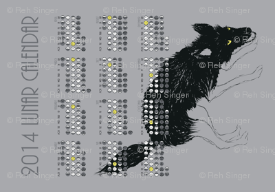 2014 Lunar Tea Towel Calendar