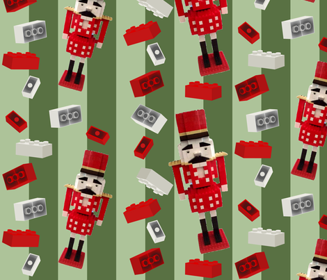 Building Brick Nutcracker fabric by lowa84 on Spoonflower - custom fabric