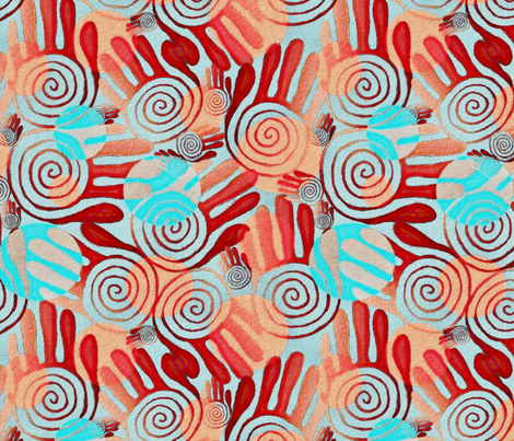Tribal vibe fabric by kociara on Spoonflower - custom fabric