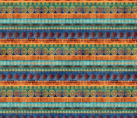 african stripe fabric by kociara on Spoonflower - custom fabric