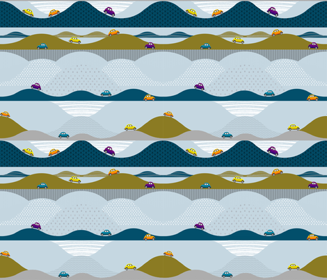 Uphill-Downhill fabric by mariskadesign on Spoonflower - custom fabric