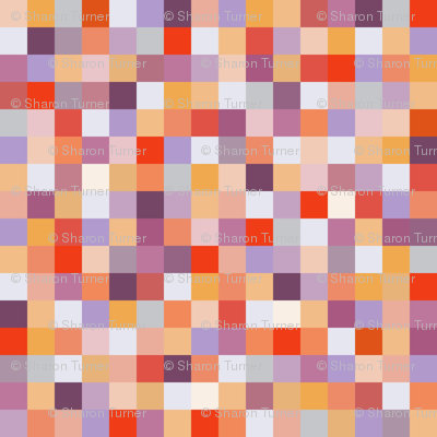 teeny sorbet squares