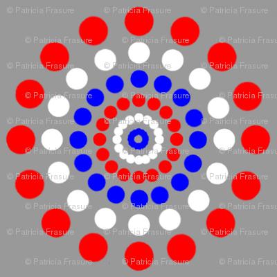 Red White Blue Dot