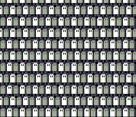 Pixel Graveyard Zigzag fabric by modgeek on Spoonflower - custom fabric