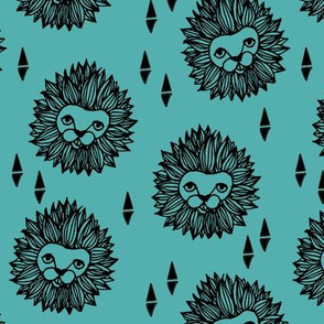 Lion Head - Tiffany Blue/Black