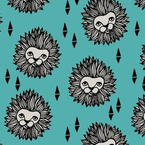 Lion Head - Tiffany Blue/Light Grey