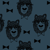 Bowtie Bear - Parisian Blue/Black