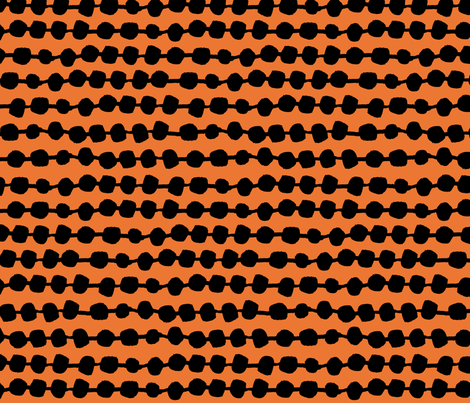 Dots in Rows - Orange/Black by Andrea Lauren fabric by andrea_lauren on Spoonflower - custom fabric